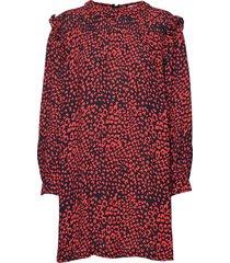 sonia dress knälång klänning röd nué notes