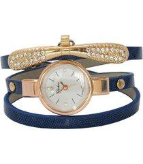 reloj azul sasmon re-21604