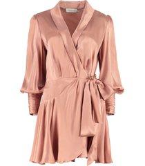 zimmermann silk wrap-dress