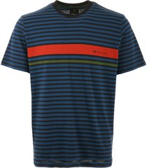 ps by paul smith logo stripe t-shirt - dark navy  m2r-011r-a20239