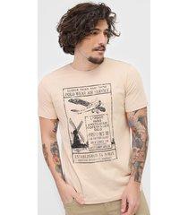 camiseta polo wear air service bege