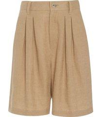 poe woven hemp shorts