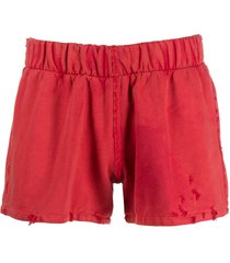 liberal youth ministry destroyed sport shorts - red