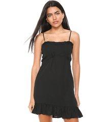 vestido mng barcelona curto sole preto