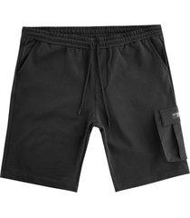 ac36 presented by prada x north sails torbay fleece bermuda shorts | black | 454008-999