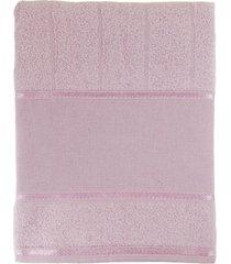 toalha appel de banho avulsa p/ bordar- bordare rosa