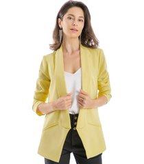 blazer solapa larga amarillo nicopoly