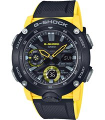 g-shock men's analog-digital black & yellow resin strap watch 48.7mm