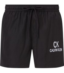 calvin klein logo zwembroek heren zwart - beh