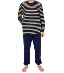 schiesser pyjama v-hals met boord