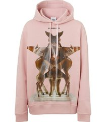 frosted pink hoodie
