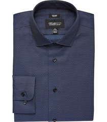 awearness kenneth cole navy & blue dot men's slim fit pants- size: 16 1/2 32/33