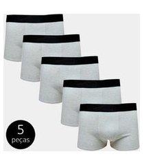 kit com 5 cuecas boxer cotton part.b confort