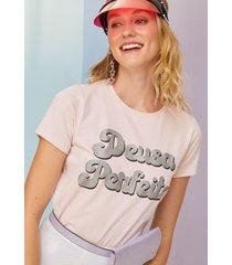 t-shirt amaro malha carnaval estampa glitter rosa claro - rosa - feminino - dafiti