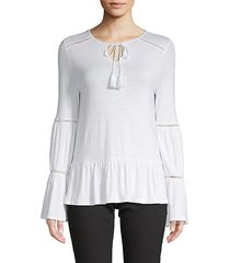 tassel-trimmed top