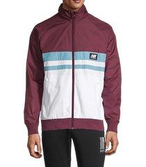 colorblock raglan-sleeve jacket