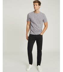 reiss harris - melange crew neck t-shirt in indigo, mens, size xxl