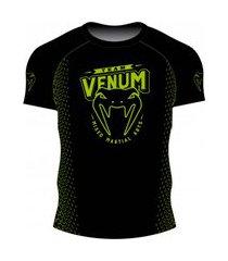 rash guard venum team mma viper - preto e verde .