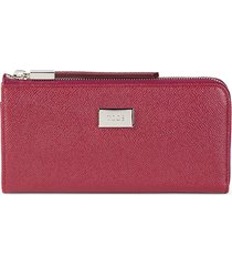 tod's women's leather wallet - red