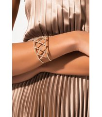 akira new love rhinestone cuff bracelet