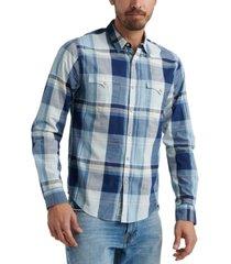 lucky brand men's alameda western plaid shirt