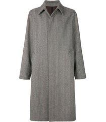 ami casaco chevron oversized - preto