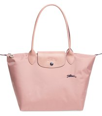 longchamp le pliage club small shoulder tote - pink