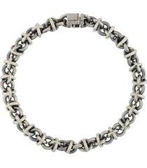 le gramme 29g vintage entrelacs bracelet - silver