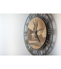drewniany zegar ścienny horizon_01 by_ oh!clock