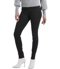 hue women's mid-rise skinny pants - black - size xl