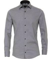venti heren overhemd antraciet oxford kent modern fit