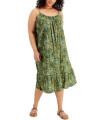 style & co plus size floral dress, created for macy's