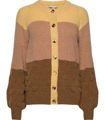 nubella cardigan stickad tröja cardigan multi/mönstrad nümph