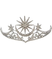 sposa star moon queen crystal crown tiara wedding prom da cerimonia nuziale fascia capelli gioielli