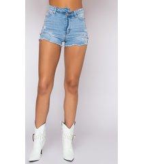 akira opposite direction high waisted denim shorts