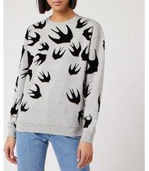 mcq alexander mcqueen women's classic sweatshirt - mercury melange - l