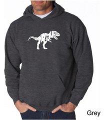 la pop art men's word art hooded sweatshirt - tyrannosaurus rex