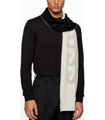 boss men's donico two-colored scarf