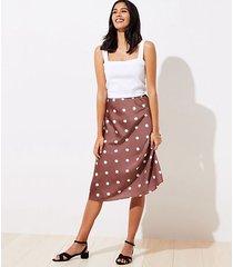 loft petite polka dot midi skirt