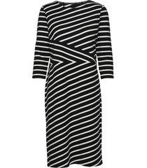 dress knitted fabric jurk knielengte zwart gerry weber edition