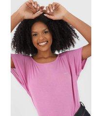 blusa colcci logo rosa