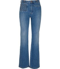 see by chloé see by chloé straight leg cropped jeans