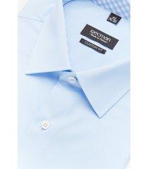 koszula bexley 2414 krótki rękaw custom fit niebieski