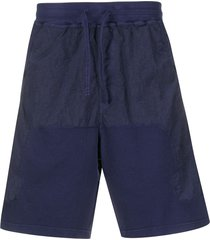 stone island shadow project panelled cargo shorts - blue