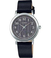 reloj analógico mujer casio ltp-e145l-1b - negro con gris