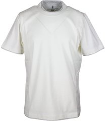 brunello cucinelli short sleeve cotton jersey t-shirt with contrasting color profiles