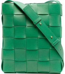 bottega veneta maxi intrecciato shoulder bag - green