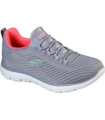 zapatos mujer  summits - fast attraction gris skechers