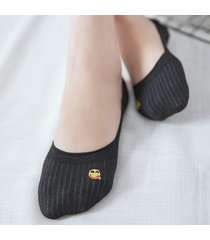 calze da barca in cotone da donna sorriso da ricamo calze da equitazione traspiranti calze corte antiscivolo