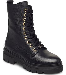 rugged classic bootie shoes boots ankle boots ankle boot - flat svart tommy hilfiger